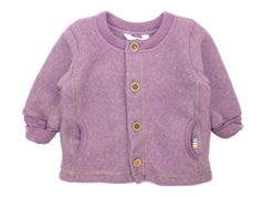 Joha cardigan square purple prikker